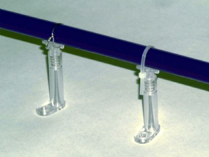 Neon Tube Support - Clear Plastic Spring Loaded